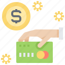 credit, money, payment, card, cash icon