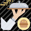 job, serve, service, steward, waiter icon