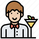 bartender, career, cocktail, drinks, job icon