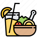 dinner, evening, food, juice, meal icon