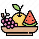 fresh, fruit, organic, vegan, vegetarian icon