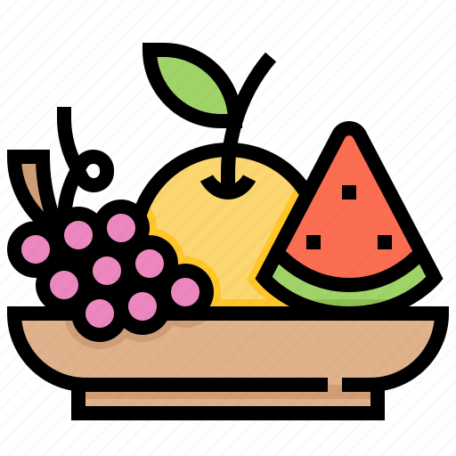 fresh, fruit, organic, vegan, vegetarian icon