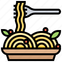 food, italian, meal, pasta, spaghetti icon