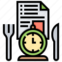 reservation, restaurant, service, table, time icon
