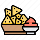 chips, crisp, food, pastry, snack icon