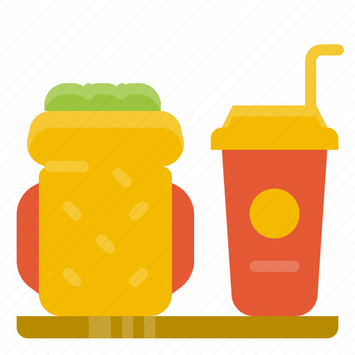 beverage, bread, coffee, cup, drink, meal, sandwich icon