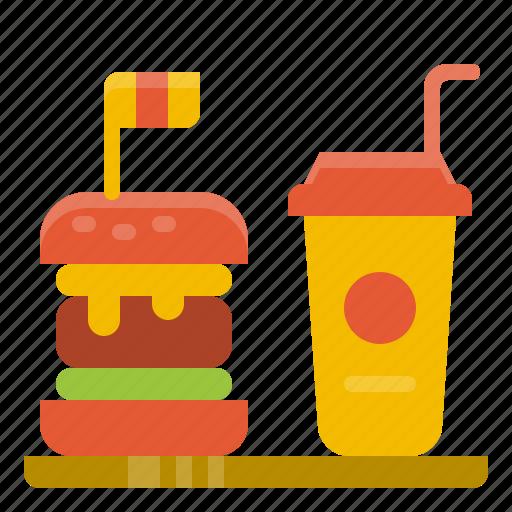 beverage, drink, fast, food, hamburger, junk, meal icon