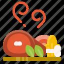 food, pork, roast, healthy, vegetable