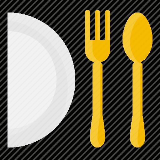 dish, element, fork, kitchen, restaurant, spoon, tool icon