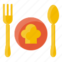 cook, element, food, fork, kitchen, restaurant, spoon icon