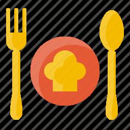 cook, element, food, fork, kitchen, restaurant, spoon icon