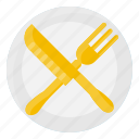 dish, element, fork, kitchen, knife, restaurant