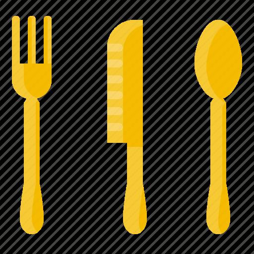 element, food, fork, kitchen, knife, restaurant, spoon icon