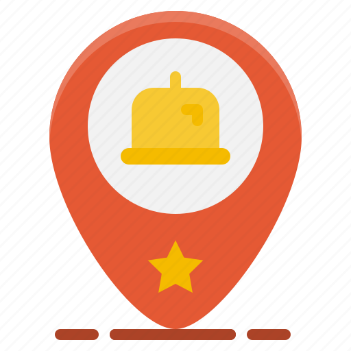 food, gps, location, map, pin, restaurant, tray icon