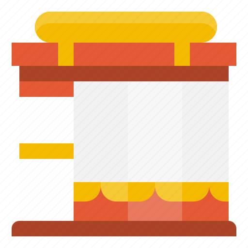 building, construction, home, real, restaurant, shopping, store icon