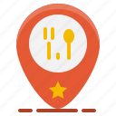 food, location, map, pin, restaurant, shop, store icon