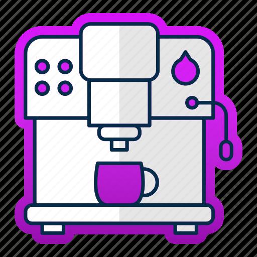 coffee, cooking, equipment, kitchen, kitchenware, machine, tool icon