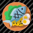 cooking, fish, food, healthy, menu, restaurant, seafood