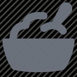 eating, food, kitchen, pika, restaurant, rice bowl, salad icon