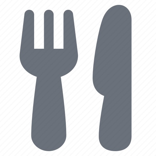 cutlery, eat, eating, food, fork, kitchen, knife, pika, restaurant icon