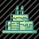 birthday, cake, celebration, food, party, restaurant, tart icon