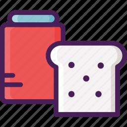 bakery, bread, breakfast, dessert, jam, pastry icon