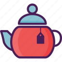 beverages, drink, pot, restaurant, tea, tea pot icon