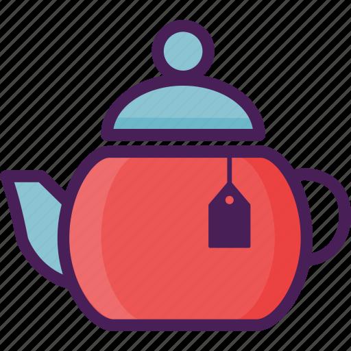 beverages, drink, pot, restaurant, tea, tea pot icon