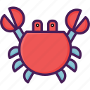 crab, fish, meat, seafood icon