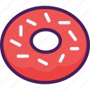 cake, dessert, donut, doughnut, food, snack, sweet icon