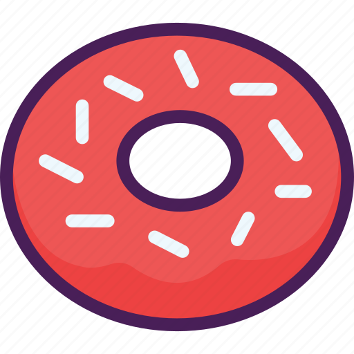 cake, dessert, donut, doughnut, food, snack, sweet icon