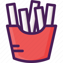 food, french fries, fries, potato, restaurant icon
