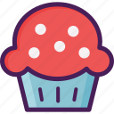 bakery, cake, dessert, food, muffin, pastries, sweet icon