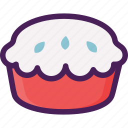 bread, cake, dessert, pastries, pie icon
