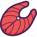 fish, food, meat, salmon, steak, sushi icon