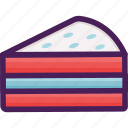 bakery, cake, dessert, pastries, slice