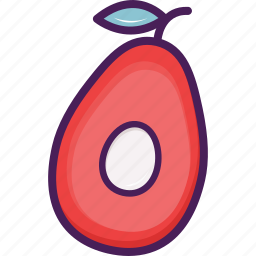 agriculture, avocado, food, fruit icon