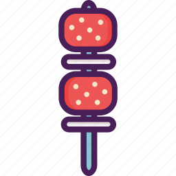 barbecue, barbeque, bbq, satay icon