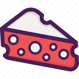 cheddar, cheese, dairy icon