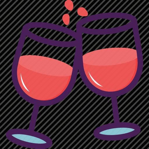 glass, restaurant, utentils, wine icon