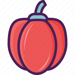 fruit, halloween, pumpkin, red pepper, vegetable icon