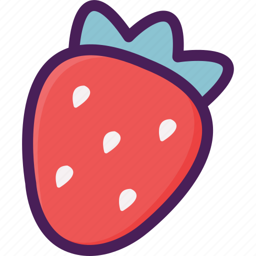 agriculture, food, fruit, strawberry icon