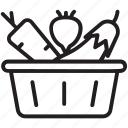 diet food, food basket, fresh diet, healthy diet, vegetables icon