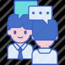 interview, job, meeting icon