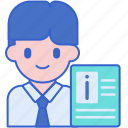 data, info, information, personal icon