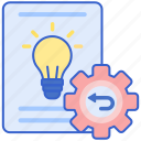 past, previous, projects icon