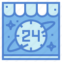 clock, delivery, hours, shopping icon
