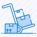 logistics, luggage cart, luggage trolley, pallet cart, pushcart icon