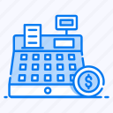 cash register, cash till, invoice machine, point of service, pos, shopping payment