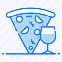 diet, fast food, food, italian food, junk food, meal, pizza with drink